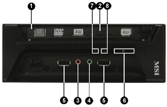 Home PC computer front sockets