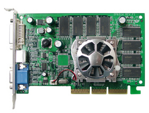 Sparkle SP8855-DT - 256Mb - AGP - 128-bit - DVI-I TV-OUT 15-Pin D-SUB Graphics adapter