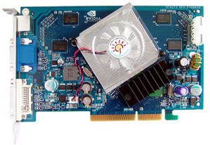 Sparkle SP-AG76SDH U2 - 512Mb DDR2 - AGP - D-SUB DVI-I HDTV - GeForce 7600 GS graphics adapter